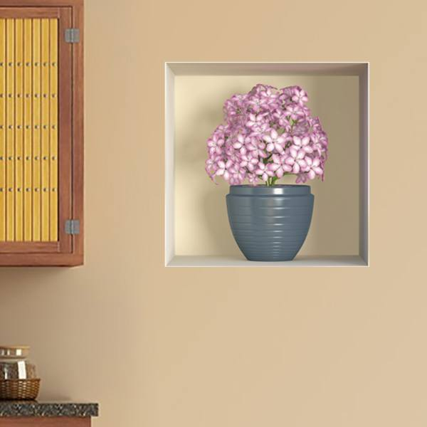 Wall Stickers: Niche Vase of roses flowers