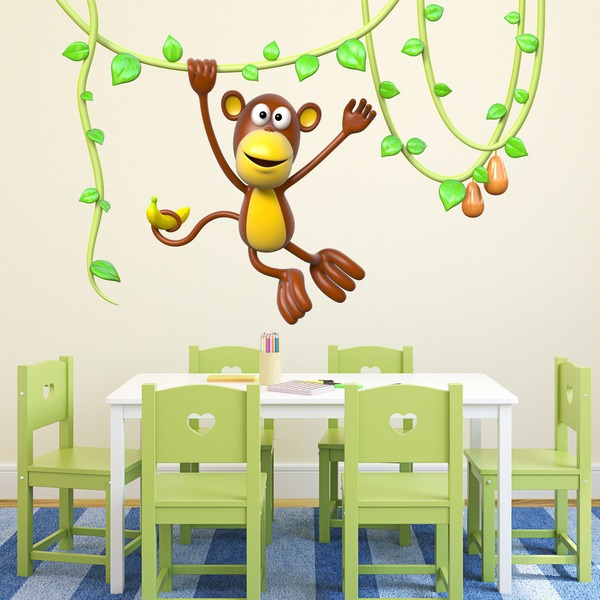 Stickers for Kids: Monkey on the vine 3