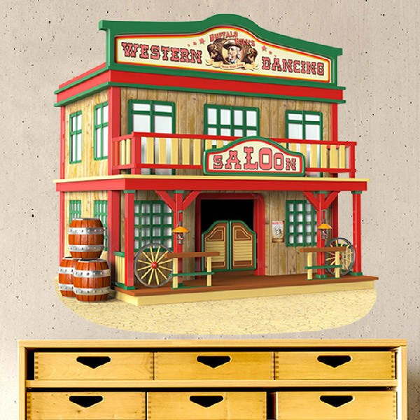 Stickers for Kids: Saloon