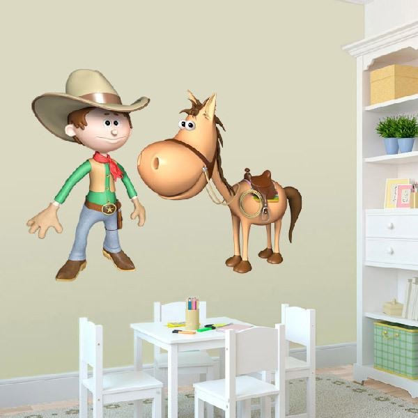 Stickers for Kids: Cowboy and his horse