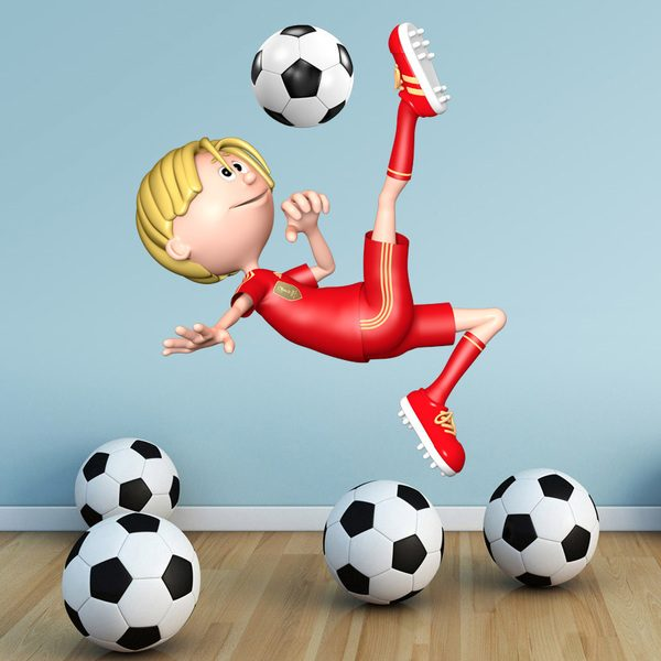 Wall Stickers: Football player throwing Chilena