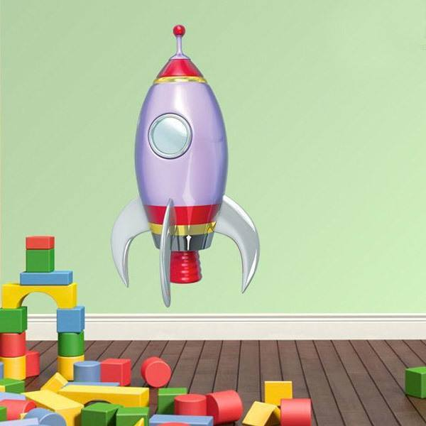 Stickers for Kids: Space rocket