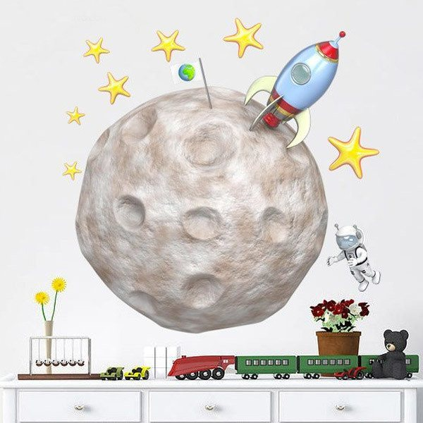 Stickers for Kids: Rocket on the moon