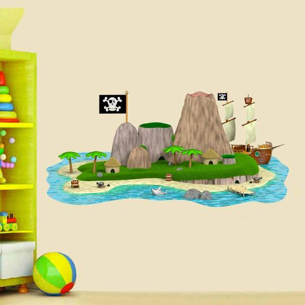 Stickers for Kids: Pirate island