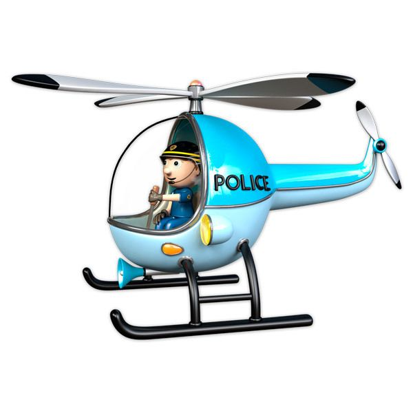 Stickers for Kids: Police Helicopter