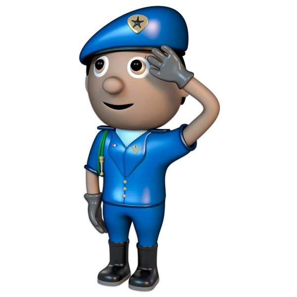 Stickers for Kids: Police saluting 2