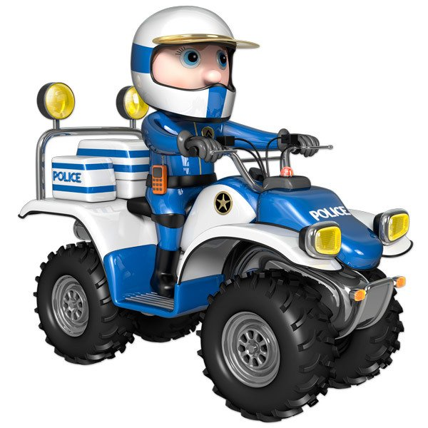 Stickers for Kids: Quad Police