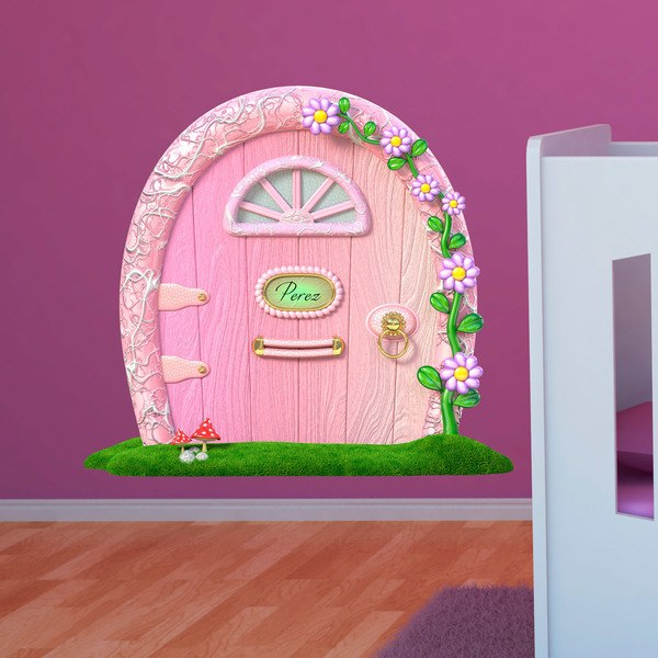 Stickers for Kids: Pink door mouse Perez