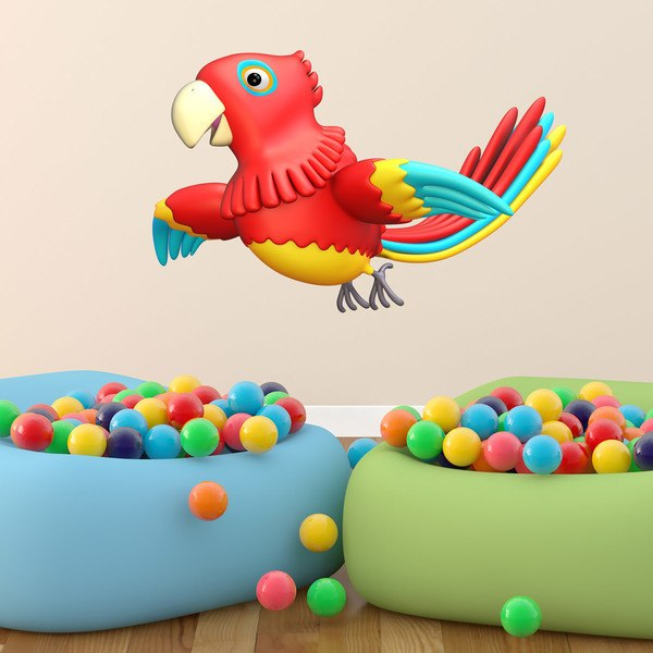 Stickers for Kids: Parrot flying 1