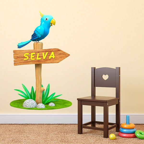 Stickers for Kids: Parrot Jungle Sign