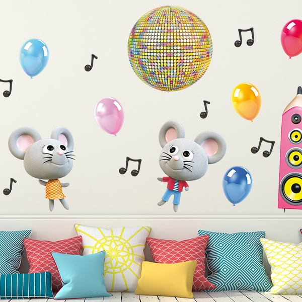 Stickers for Kids: Mice Party