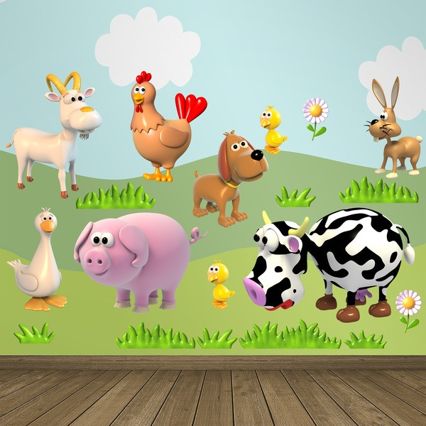 Stickers for Kids: Farm animals