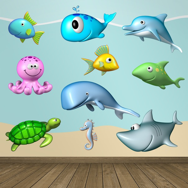 Stickers for Kids: kit ocean animals