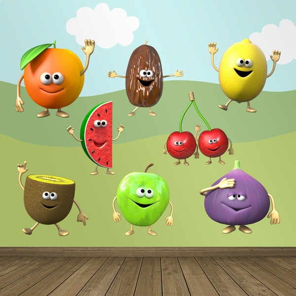 Stickers for Kids: Fruits