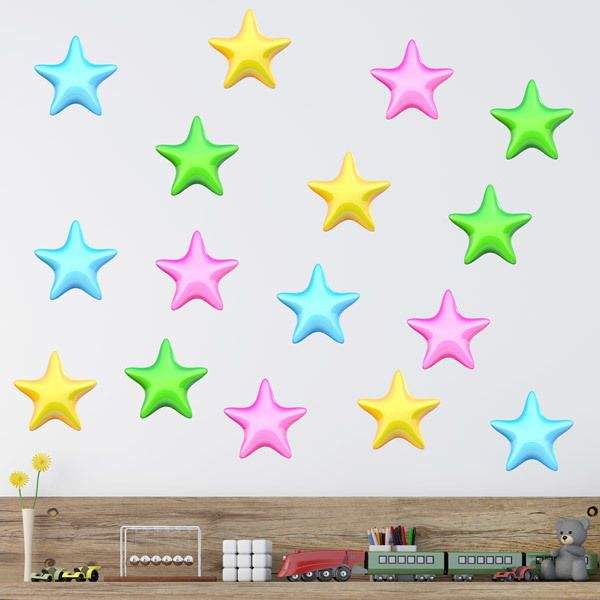 Stickers for Kids: Kit colored stars