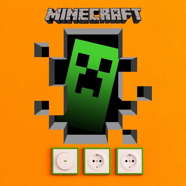 Wall Stickers: Minecraft 3D 1