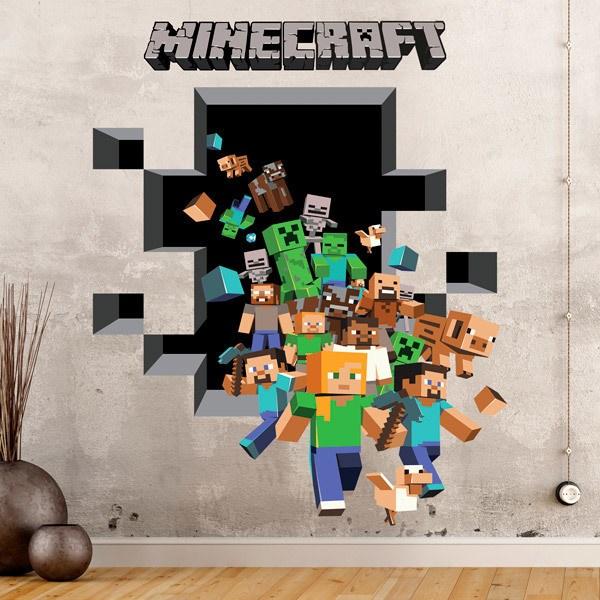 Wall Stickers: Minecraft 3D 2