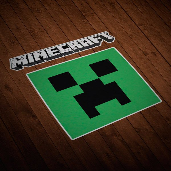 Wall Stickers: Sticker Minecraft letters and logo