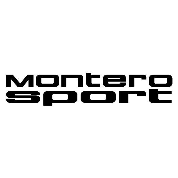 Car and Motorbike Stickers: Montero Sport
