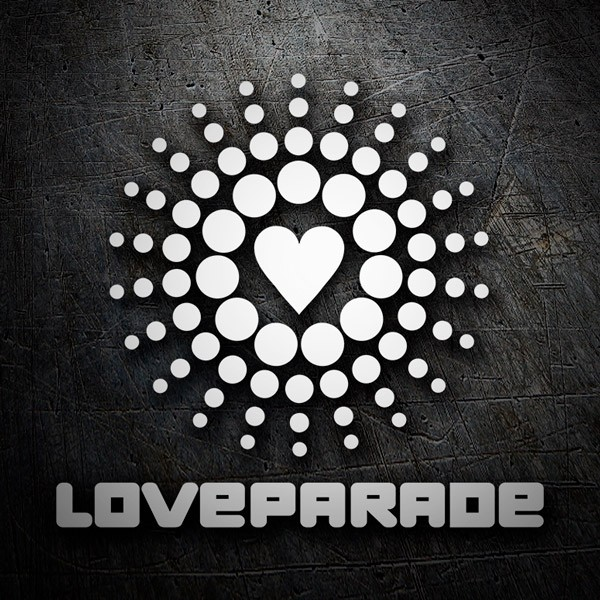 Car and Motorbike Stickers: Love Parade