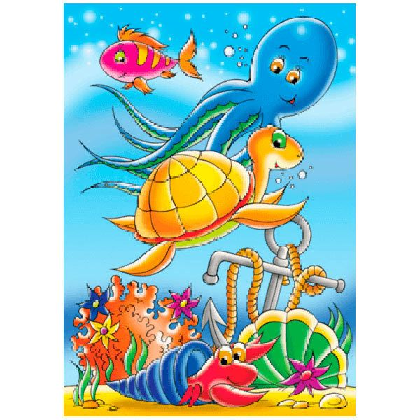 Wall Stickers: Infant Sea Bottom