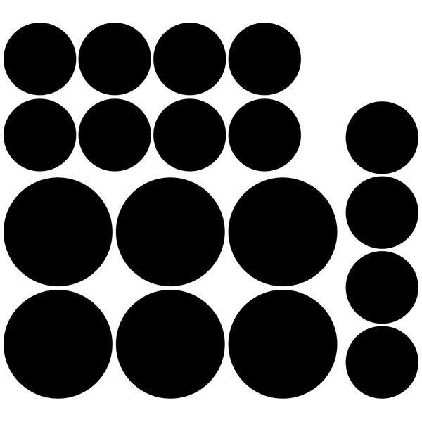 Wall Stickers: Kit 18 circles