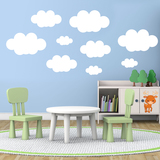 Wall Stickers: Kit of  9 Clouds