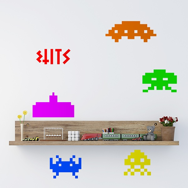 Wall Stickers: Invaders