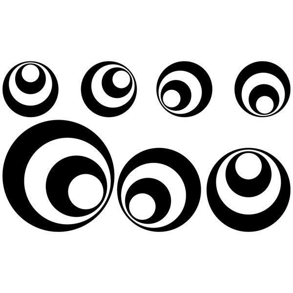 Wall Stickers: Kit 7 circles B
