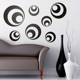 Wall Stickers: Kit 7 circles B