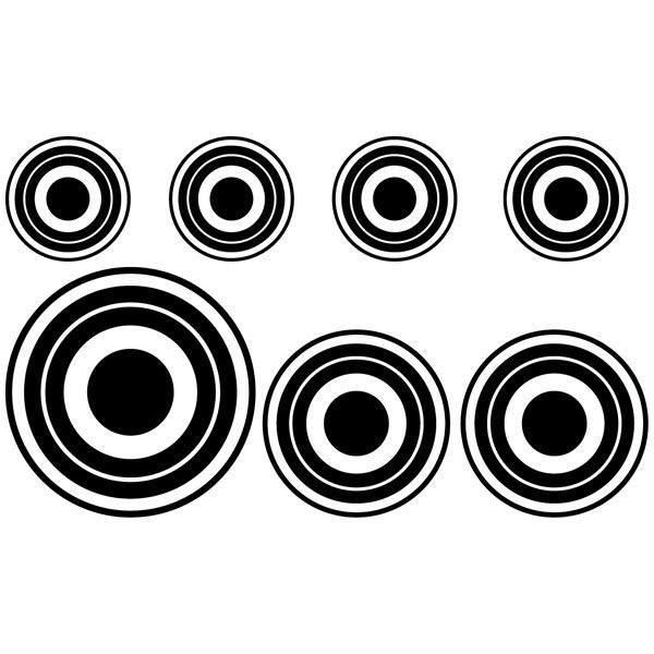 Wall Stickers: Kit 7 circles C