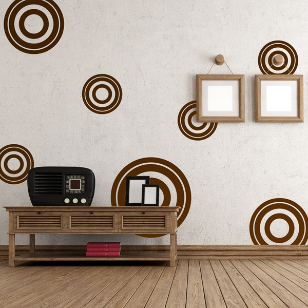 Wall Stickers: Kit 7 circles E