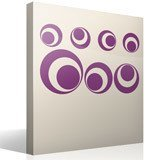 Wall Stickers: Kit 7 cercles F