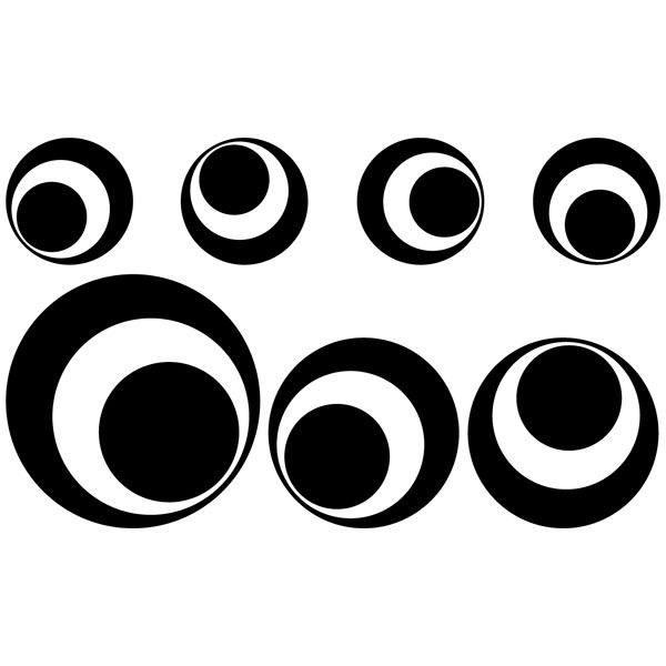 Wall Stickers: Kit 7 cercles F