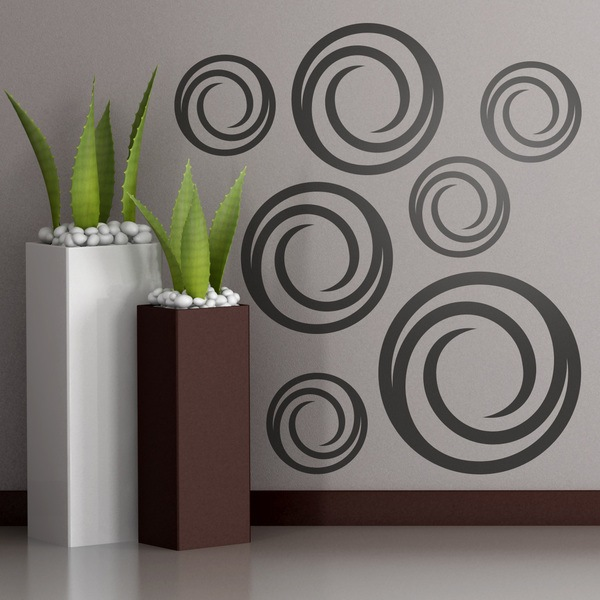 Wall Stickers: Kit 7 circles G