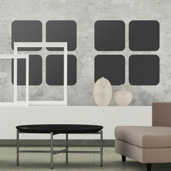 Wall Stickers: Kit of 8 Squares
