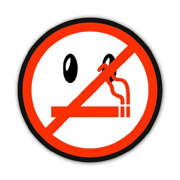 Car and Motorbike Stickers: No smoking 5
