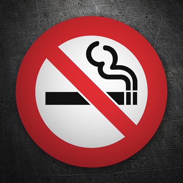 Car and Motorbike Stickers: No smoking 6