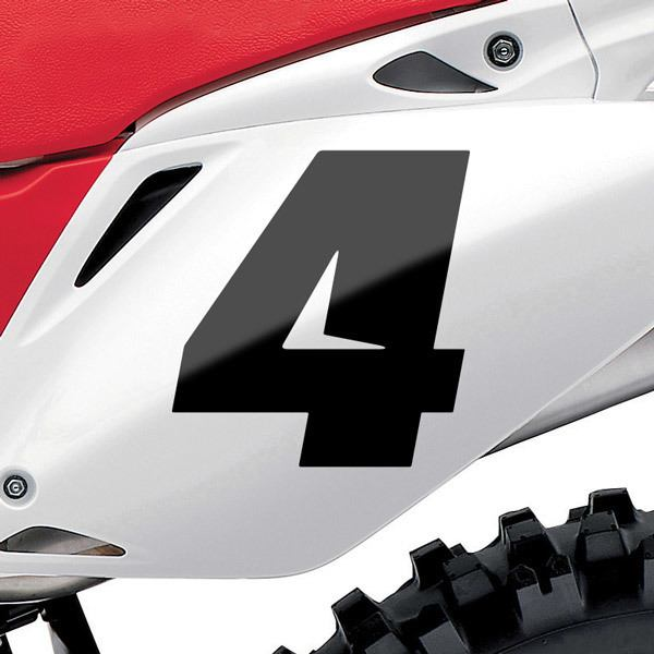 Car and Motorbike Stickers: Number 4 Speed