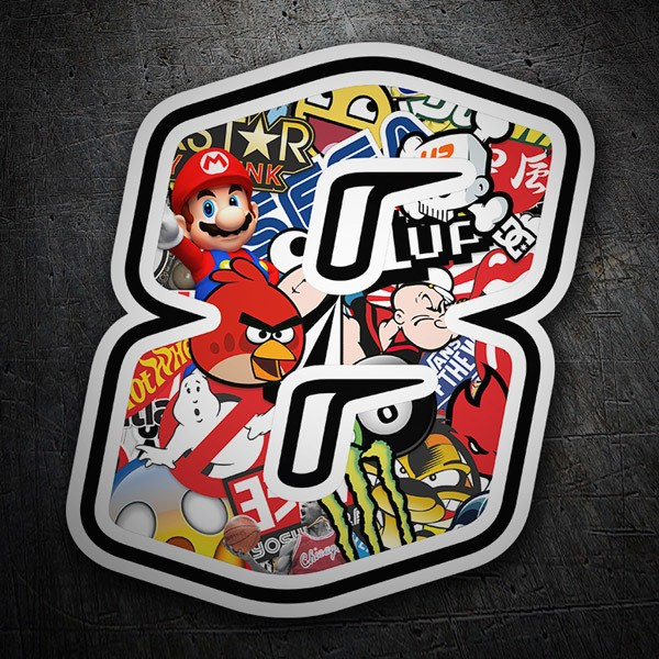 Car and Motorbike Stickers: Number 8 Speed Stickerbomb