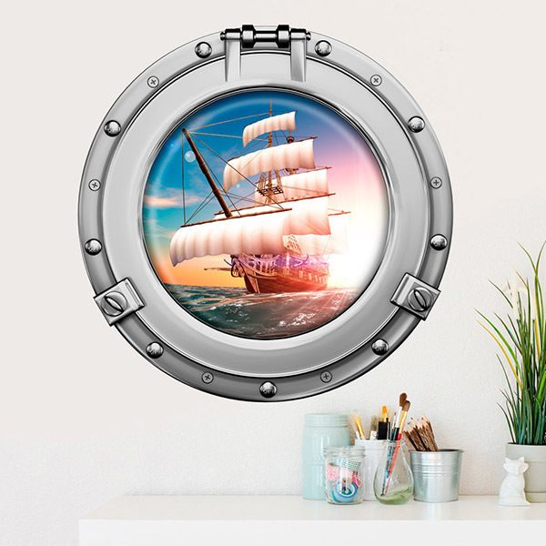 Wall Stickers: Pirate sailing ship