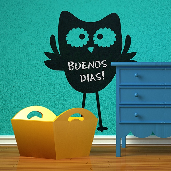 Stickers for Kids: Slate owl