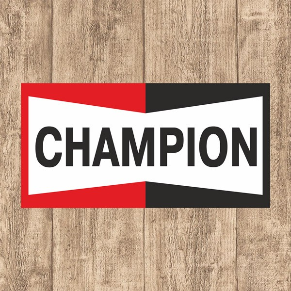 Car and Motorbike Stickers: Champion