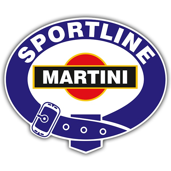 Car and Motorbike Stickers: Martini sportline