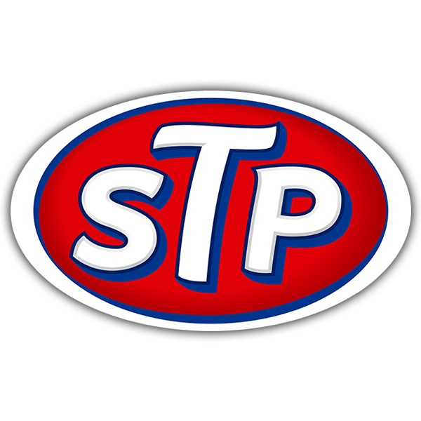 Car and Motorbike Stickers: STP