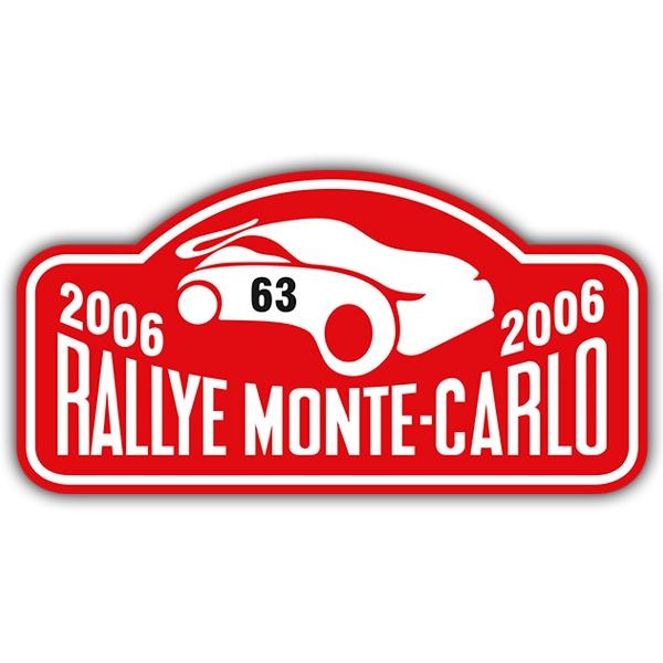 Car and Motorbike Stickers: Rallye Monte-Carlo II