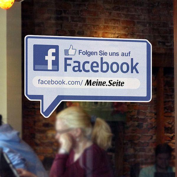 Wall Stickers: Folgen Sie uns auf Facebook