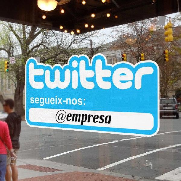 Wall Stickers: Segueix-nos a Twitter