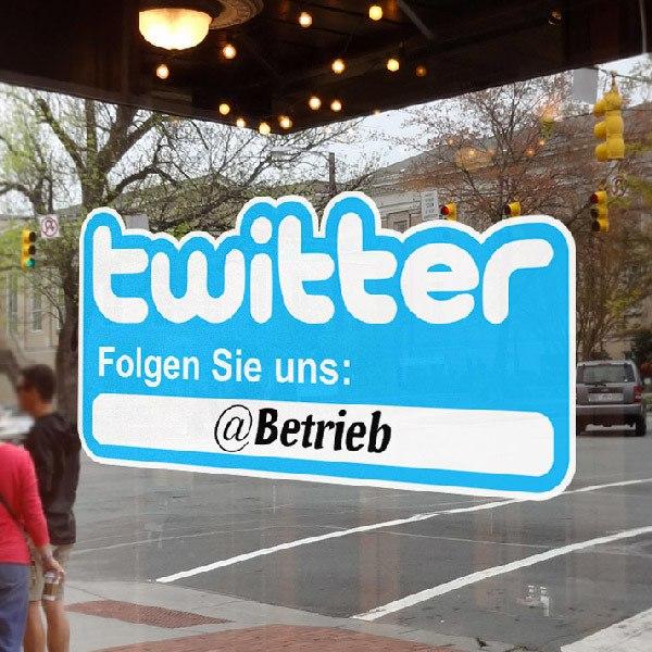 Wall Stickers: Folgen Sie uns auf Twitter