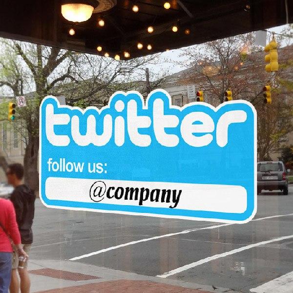 Wall Stickers: Follow us on Twitter